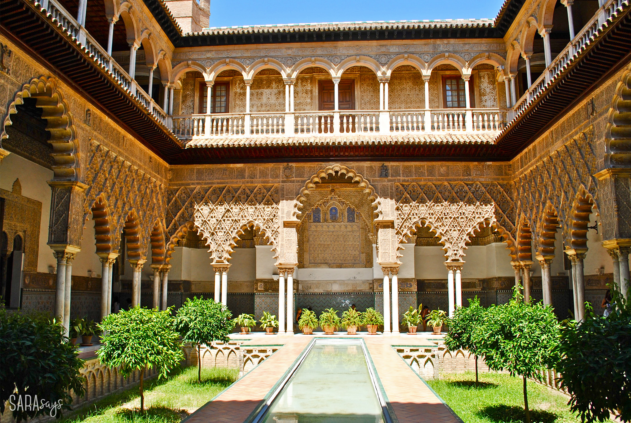 Real Alcázar – Sevilla, Spain – courtyard patio